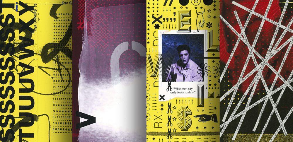 fanzine ultraviolenta, collage, stencil, mecanorma and decadry